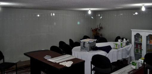 pared pvc blanco acanalado