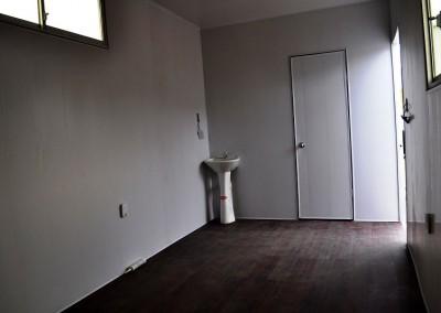 Acabados de PVC para contenedores dormitorio y oficina